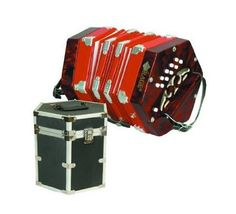 20 Button 40 Reed Concertina w/ Hard Case | Reverb