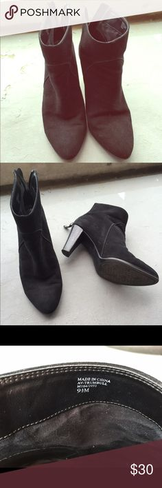 Adrienne Vittadini Black Suede Booties size 9.5 Very comfortable, very stylish black suede booties!!! Love pairing them w short dresses, jeans, skirts! Tons of options.  Buy now, combine w other items to save money or make an offer! All reasonable offers are always considered!! Adrienne Vittadini Shoes Ankle Boots & Booties