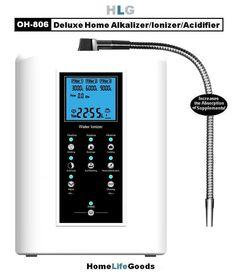 OH-806 Water Ionizer, Alkalizer & Acidifier 5 & 7 Plate Models!  White or Wood Grain (Veneer) Models.  Stronger and More Attractive Than Many Top Models!