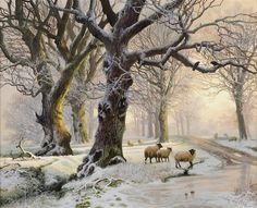 View Everdon Park, Northamptonshire in Winter By Daniel Putten; oil on panel; Access more artwork lots and estimated & realized auction prices on MutualArt. Winter Landscape, Landscape Photos, Landscape Paintings, Illustration Photo, Illustrations, Winter Painting, Winter Art, Kinkade Paintings, Norman Rockwell Art