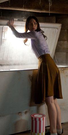 Mia Wasikowska in 'Stoker' (2013). Costume Designers: Kurt and Bart / director of photography Chung-hoon Chung