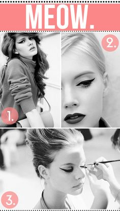 Cat eyes! I wear a cat eye pretty much everyday, no matter what eyeshadow I'm wearing :)  via blossomgraphicdesign.com on Pinterest