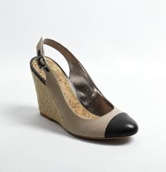 Rylee Slingback Wedge Espadrilles...the classic Chanel look but in a wedge.