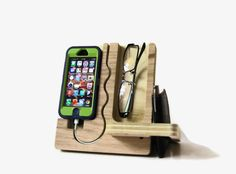 Such a cool dude gift for ht ehubby IPhone 5 stand  Valet by undulatingcontours on Etsy,