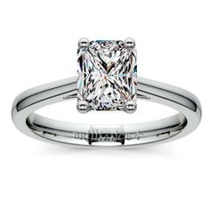 The sleek elegance of a Platinum band is enhanced with a single sparkling diamond in this simple, durable setting by Brilliance... Meet the Petite Cathedral Diamond Solitaire Engagement Ring, featuring a stunning Radiant-cut diamond! http://www.brilliance.com/engagement-rings/petite-cathedral-solitaire-ring-platinum