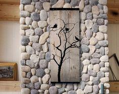 Recuperado granero madera de la pared por TKreclaimedART en Etsy