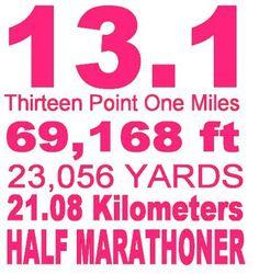 Half Marathoner! - Great post