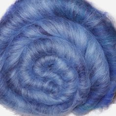 Spinning fiber batt, mixed fibers - Gathering Clouds - 2.1 ounces