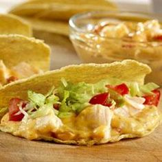 Chicken Nacho Tacos! These are really delish! If you use shredded rotisserie chicken instead of canned! :)