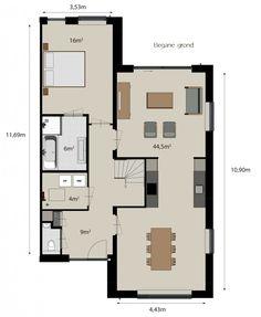 plattegrond woning keuken in het midden - Google zoeken