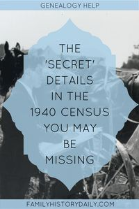 The 1940 census of the United States is a particularly exciting one for genealogy research for a number of reasons. But there is a critical element of this massive family history resource that often gets overlooked. Free Genealogy Sites, Genealogy Humor, Genealogy Chart, Genealogy Research, Family Genealogy, Genealogy Forms, All Family, Family Trees, Family Roots