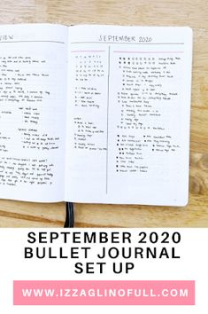 September 2020 Bullet Journal Set Up Monthly Bullet Journal Layout, Bullet Journal Set Up, Daily Page, My Calendar, Lifestyle Blog, September, About Me Blog, Things To Come, How To Plan