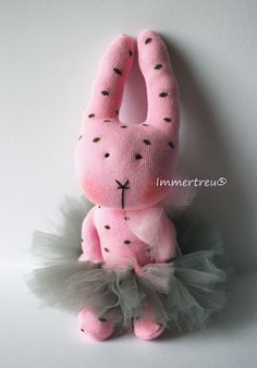 ballerina rabbit,made of a single sock