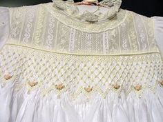 heirloom communion dresses smocked   Hand Embroidered Christening Gown
