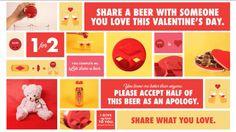 Condividete la vostra birra con la persona che amate nel giorno di San Valentino. | Advertising/Media/Marketing blog