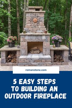 Building an outdoor fireplace doesn't have to be difficult or expensive. Check out just how easy it can be using my kit and these 5 useful steps. Build Outdoor Fireplace, Outdoor Stone Fireplaces, Outside Fireplace, Outdoor Fireplace Designs, Backyard Fireplace, Backyard Plan, Fire Pit Backyard, Backyard Patio, Gazebo With Fire Pit