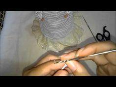 DIY vestido de noiva para boneca Barbie feto de crochê - YouTube