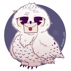 "1,901 Likes, 35 Comments - Naomi Lord (@naomi_lord) on Instagram: ""Drew up a sassy Hedwig! I'm taking it easy because having a cold sucks  sorry I'm a bit slow at…"""