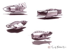 Plane + Hovercraft Sketches - DRAWTHROUGH: the personal and professional work of Scott Robertso