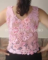 Resultado de imagem para blusas croche decote quadrado
