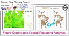 Figure Ground and Spacial Reasoning Activities  - pinned by @PediaStaff – Please Visit ht.ly/63sNtfor all our pediatric therapy pins