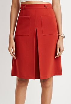 Pleat-front a-line skirt - $22.90