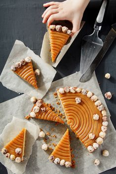 Homemade pie with nuts and caramel by sherstobitov Food Photography Healthy Soup Recipes, Top Recipes, Cake Recipes, Cooking Recipes, Sweet Soup, Dessert Packaging, Work Meals, Homemade Pie, Fall Treats