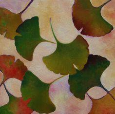 Hellenne Vermillion Art: gingko leaves