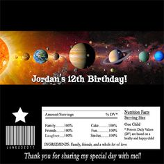 Solar System Birthday Invites (page 2) - Pics about space