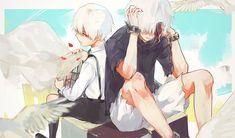 Anime Fanarts — Characters: Kaneki & Touka Anime: Tokyo Ghoul ログ...