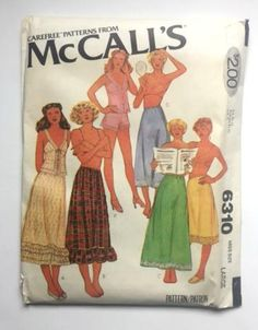 McCall's 6310 Sewing Pattern Petticoat Half Slip Camisole Panties Miss – Moomettes Magnificents