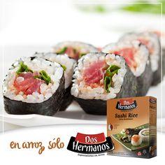 #Maki de #salmón #sushi (8 rollos de makis)  #INGREDIENTES: #ArrozDOSHERMANOS para Sushi 400 g Vinagre blanco 55 g Azúcar 25 g Sal 5 g Salmón 1 k Alga nori 8 laminas Verdeo solo la parte verde 8 tiras  PROCEDIMIENTO: https://www.facebook.com/179280278814862/photos/a.179294408813449.44584.179280278814862/1033143170095231/?type=3&theater