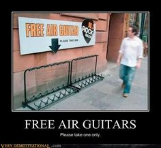 #onourRADAR you can never have too much outdoor #Humour such as this #airguitar, ha!: