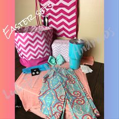 Monogram Easter Baskets with LuLaRoe Kids Gracie and kid leggings outfit is $51
