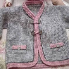 Knitted Baby Cardigan, Knit Baby Sweaters, Baby Boy Knitting Patterns, Baby Patterns, Baby Dress, Knit Crochet, Kids Fashion, Instagram, Knit Jacket
