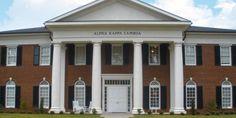 ΑΚΛ Fraternity house - University of Alabama, Tuscaloosa.