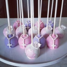 First Holy Communion cake pops