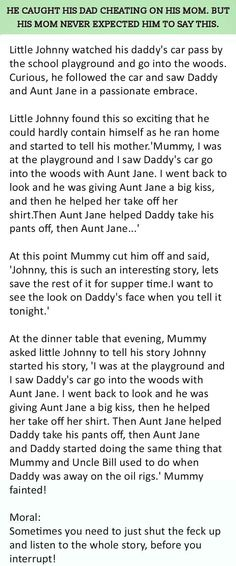 OMG This Child Caught Dad Betraying Mom. Shockingly this happened. Cheating Stories, Funny Cute, Hilarious, Funny Memes, Jokes, Funny Stories, Short Stories, Statements, Funny Posts