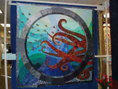 Octopus Quilt! Wow, inspiring.