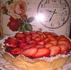 Crostata golosa con fragole