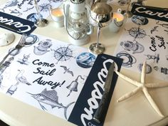 Personalized Vintage Nautical Paper Placemats by TIPgifts on Etsy, $22.25