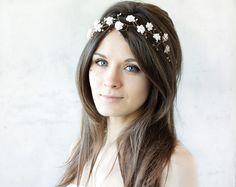 Bridal tiara wedding tiara wedding flower crown Blush by ArsiArt, $47.00