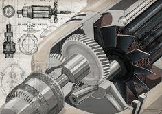 TECH on Illustration Served.                             Black & Decker D.750 Drill.