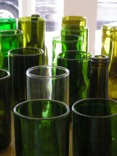 cut glass bottle centerpieces for a wedding | can create centerpiece vases for your wedding from recycled bottles ...