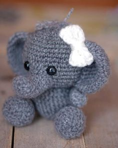 "******PLEASE NOTE: THIS PURCHASE IS ONLY FOR A DIGITAL CROCHET PATTERN, NOT THE FINISHED ANIMAL****** ""Meet Ellis the Elephant! Ellis is still a baby elephant and just learning to walk and pick up things with his trunk. He knows one day he would like to explore the marsh he lives"