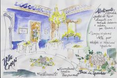 restaurant drawing