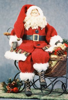 Cloth Doll Pattern  22 in Christmas Santa by FruitfullHands, $10.00