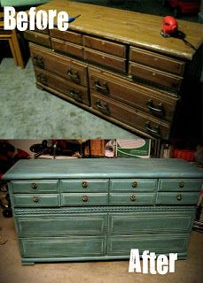 The Treasure Hunts: Dresser Redo. This site has amazing furniture makeovers.