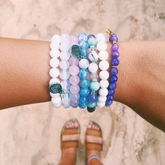 Gemstone bracelets. Stack em up! Good vibes.