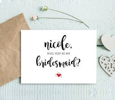 This listing is an INSTANT DOWNLOAD that includes a high resolution, printable Will You Be My Bridesmaid, Matron of Honor, Flower Girl template in a PDF format for you to edit and print at home or your local copy shop. Create multiple versions with different text and print as many copies as you need. A sweet and fun way to ask your girls to be in your wedding party.  --------------------- WHAT YOU GET --------------------- • Be My Bridesmaid Card Template: 3.5x5 folded / 7x5 unfolded (2 ...